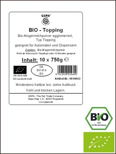 Bio Vending Milchtopping, automatengängig, 750g